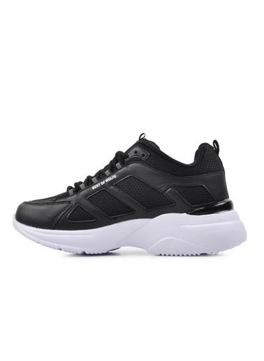 Bestof Bestof Bst-076 Siyah-Beyaz Kadın Spor Ayakkabı Siyah